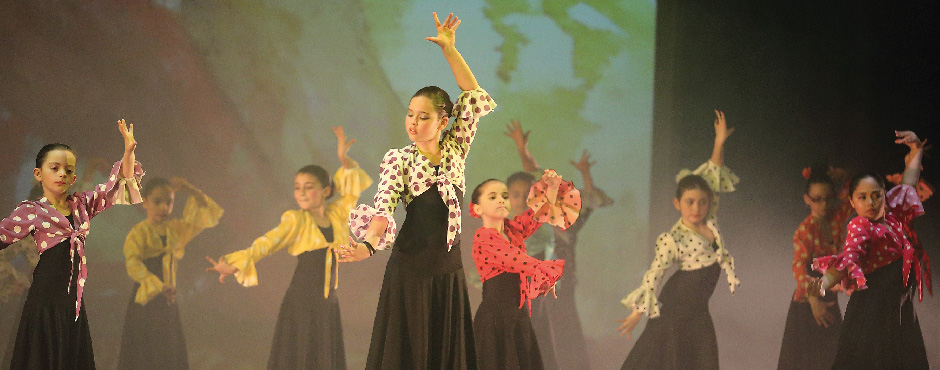 Photo from the Junior Spanish dance from Around the World in 80 Minutes organised by the Academy of Dance Arts in 2014 (Photo by Domenic Aquilina)